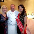 Anne Gilpin of Focal Literary Festival; chef Phelim Byrne and Strawberry Festival Queen Linda Barron