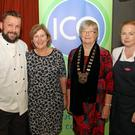 At the ICA cookert demonstration in Clonroche Community Hall were chefs William Kinsella and Bernie Earl Long with Emily Murphy and Deirdre Connery, County Wexford ICA Federation president