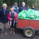 Brian Coulter, Sue and Fred Crampton, John Tully, Trish and David Waugh at the clean up