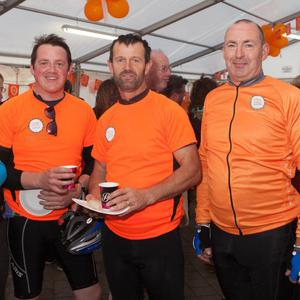 Some of the cyclists taking part in the Cycle Against Suicide