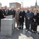 Cllr Tony Dempsey, Cllr Paddy Kavanagh, Cllr Joe Sullivan; Sean Og Doyle, James Browne TD, Cllr Johnny Mythen, Cllr Willie Kavanagh, Cllr Keith Doyle, Cllr Kathleen Codd Nolan, Tom Enright, CEO Wexford County Council, Padraig O'Gorman and John Carley