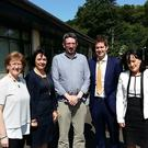 Deirdre O'Flynn, Love Gorey; Liz Stanley, Gorey Municipal District; Michael Gleeson, Chairman, Love Gorey; James Kehoe, Rathwood; and Lisa Stacey, WebArt, Gorey