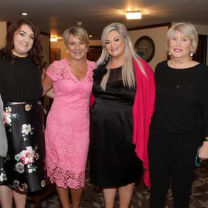 Eamonn Mernagh, chairperson, Wexford Hospice Homecare; Keara Doran, Tracey Piggott, Tanya Doran and Mary Banks