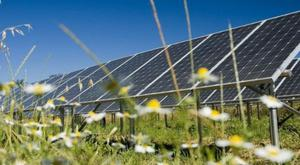 Typical example of a solar farm