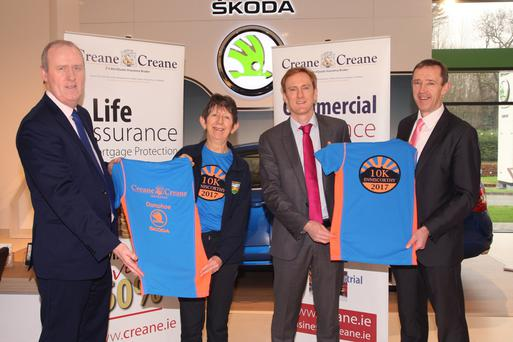 At the launch of the Slaney Olympic 10K were Aidan O'Leary, Skoda sales; Jane Porter, race director; Conor Arrigan, Creane & Creane, and Austin Codd, sales manager, Skoda