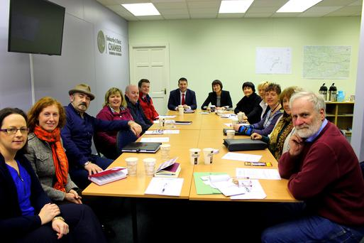 Local business people at the latest Enniscorthy Chamber of Commerce Wake Up Wednesday initiative