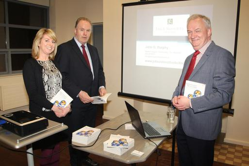 At the Guide to Inheritance and Succession Planning talk at Enniscorthy Library were Louise Kinsella, guest speaker, solicitor John G Murphy and librarian Jarlath Glynn