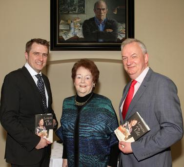 James Browne TD, Mary O'Rourke and Jarlath Glynn of Enniscorthy Library