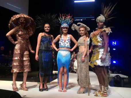 The five dresses from Colaiste Bride will be represented at the Grand Final on April 27