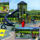 A plan of the new playground at the Promenade.