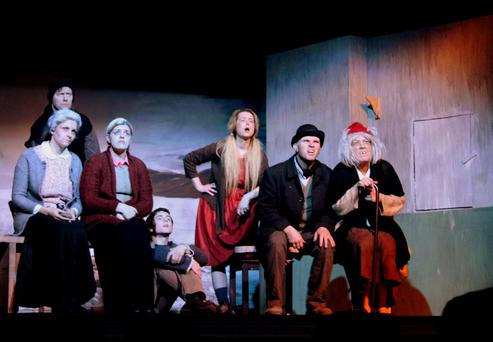 Cast members from Enniscorthy Drama Group's production of The Cripple of Inishmaan