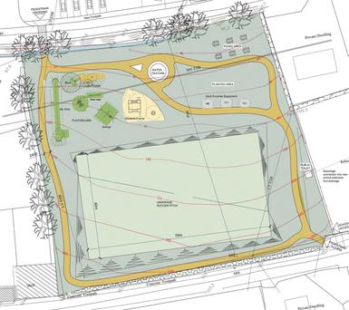 A plan of the new park for Ballindaggin