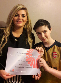 Chantel Johnson with her brother Eoin