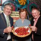 Cathaoirleach, Cllr. Oliver Walsh, Cllr. Kathleen Codd Nolan and Strawberry Festival chairman, Cyril Wheelock