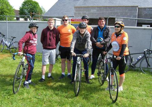 Students and teachers from Coláiste an Átha took part in the Thurles to Kilkenny leg of Cycle Against Suicide 2017