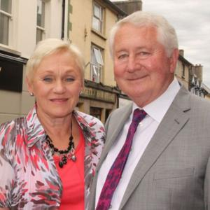 Leslie and Sam McCauley outside their Enniscorthy premises