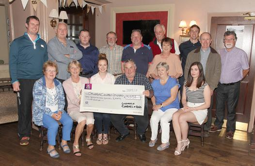 Presentation of a cheque for €3,357 to Crumlin Children's Hospital from the customers of Dunbar's Pub, Ferns, proceeds of Dunbar's of Ferns 1882-2017 135 Years Celebration Weekend