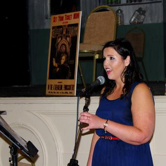 Aisling Williams performing at the Athenaeum