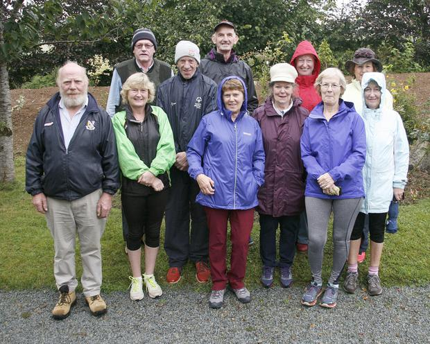 Some of the walkers who took part in the 5K Walk/Run, in aid of Wexford Hospice Homecare, which started at the home of John and Mary Foley, Knockduff, Ballindaggin