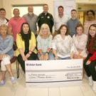 (Back, from left): Cameron Cloke, Dick Butler, Trevor Murphy, Fintan Kelly, Kevin Lawlor, León Malone, Funmi Akinyemi, (front) Lorna Lawlow, Roisin Williams, Olive Ruane, fundraising coordinator Pieta South East; Adrienne Murphy, organiser; Karen Franklin and Niamh Crowhurst