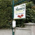 The site notice at Slaney Farms, Tomnalossett