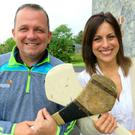 Davy Fitzgerald and Lucy Kennedy at Davy's home in Clare