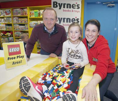 Damian Byrne, Eva Doherty and Olive Doherty (The Bricks Club) in Byrne's Lego Build Zone