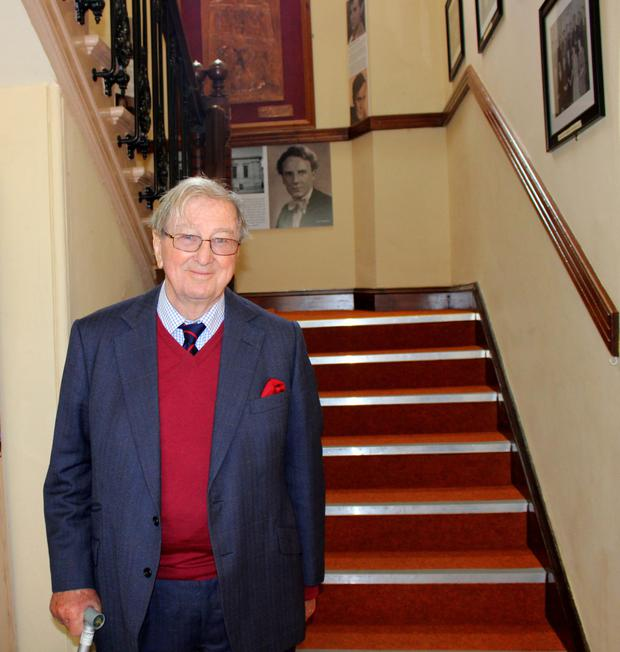 Martin White at the Athenaeum recently during a visit to his home town