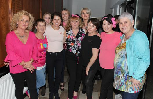 The St Senan's crew pictured at the Pretty in Pink Charity Event, in aid of Breast Cancer Ireland, in Enniscorthy Rugby Club