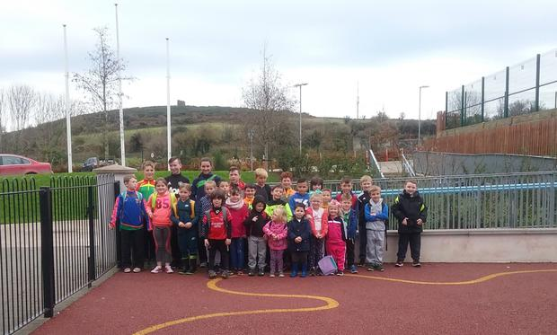 The kids who took part in the Schools Soccer Coaching Scheme Halloween Camp recently