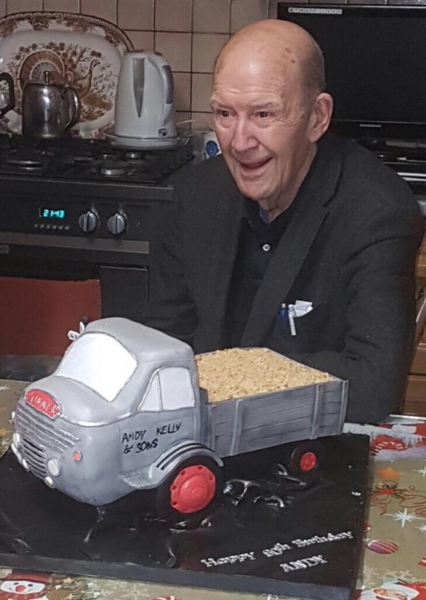Andy Kelly pictured on the occasion of his 90th birthday