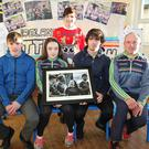 The O'Connor family, Chris, Roisin, Michael and Ciaran with principal Tara Nolan at Rathnure NS