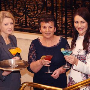 Launch of 'Frocktails and Cocktails' in support of Hope Cancer Support Centre in Enniscorthy. Event co-ordinator, Catherine Murphy, organiser, Josephine Casey and Edel Fleming from fayebella.com.