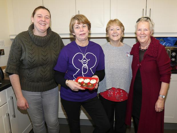 Adrianne Doyle, Caroline Steacy, Margaret Walker and Margaret Colfer pictured at the Féileacáin Coffee Morning