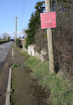 The footpath at Red Pat's Cross