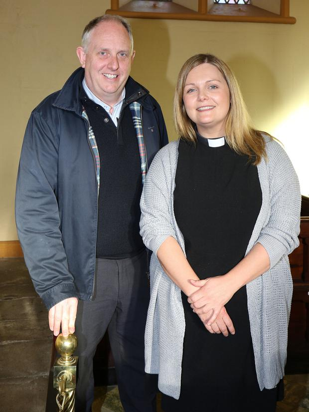 Fr Odhran Furlong and Rev Nicola Halford