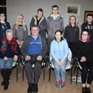 At the Red Cross AGM were, back row: Catriona Whelan, unit officer; Mary Murnane, Gerry Page, Shane Roche, Katie Carolan and Luke Doyle. Front row:Sally Flynn, PRO; Paddy Redmond, secretary; Olive Lett, chairperson and Karen Sullivan, vice-chairperson
