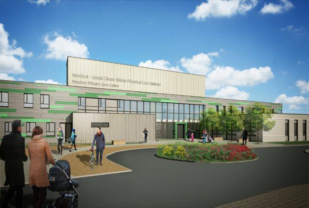 An artist's impression of the new primary care centre at Grogan's Road will look