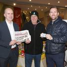At Dunnes Stores were Derek Sludds, manager, Dunnes, Billy Hudson, Pearse Rd, Enniscorthy, winner; and PJ Banville, advertising executive, Enniscorthy Guardian