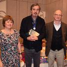 Cllr Barbara-Anne Murphy, the new Laureate for Irish Fiction, Sebastian Barry, Billy Roche and the Arts Council's Sarah Bannon