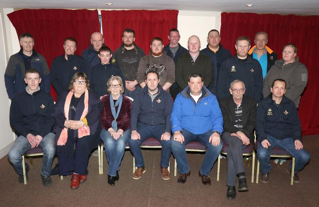 Slaney Search & Rescue committee pictured at their AGM in the Riverside Park