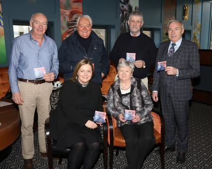 Back row:Colm McGibney, Ray Shanks, Jimmy Gahan and Eric Barron. Front row: Rev Nicola Halford and Doreen Moran pictured at the launch of Enniscorthy Lions Club 'A Musical Evening' in St Mary's Church, Enniscorthy, in aid of The Church Organ Restoration Fund