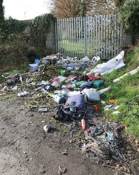 Recent dumping at the back of St Senan's Hospital