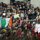 People at the rally outside the GPO in Dublin last Thursday