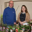 Keith Rothwell, Beechdale Garden Centre and librarian Vanessa Kirby at the Spring Gardening Demo in Enniscorthy Library
