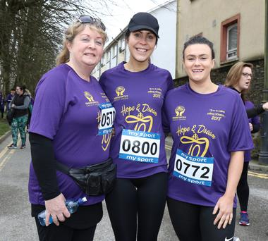 Martina Murphy, Fiona Doyle and Debbie Maher
