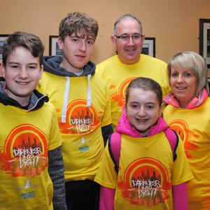 The O'Leary family, John Kay, Adam, Fionn and Katie. Photo courtesy of Dee O'Leary