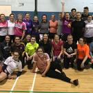 Students from Coláiste Bríde taking part in Healthy Active Schools Week