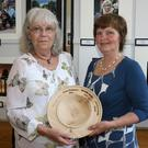 Intermediate photographer of the year Sandra Kelly with chairperson Jacqueline McCann