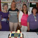 Emily Warren, Dianne Sheil, Lynn Smyth, Annabelle Hopkins, Sarah Beale and Caroline Steacey at the 60th anniversary celebration of Enniscorthy Brownies in the Friends Meeting House on Friday night